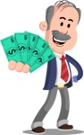 Flat Elderly Businessman Cartoon Vector Character AKA Fred Senior - Show me  the Money