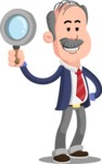 Flat Elderly Businessman Cartoon Vector Character AKA Fred Senior - Search