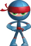 Cool Ninja Cartoon Vector Character AKA Sachi the Flexible - Normal