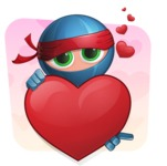 Cool Ninja Cartoon Vector Character AKA Sachi the Flexible - Shape 3