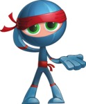 Cool Ninja Cartoon Vector Character AKA Sachi the Flexible - Sorry