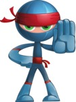 Cool Ninja Cartoon Vector Character AKA Sachi the Flexible - Stop 1