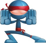 Cool Ninja Cartoon Vector Character AKA Sachi the Flexible - Stop 2