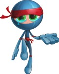 Cool Ninja Cartoon Vector Character AKA Sachi the Flexible - Sad 2