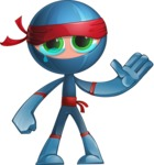 Cool Ninja Cartoon Vector Character AKA Sachi the Flexible - GoodBye
