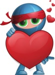 Cool Ninja Cartoon Vector Character AKA Sachi the Flexible - Show Love