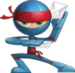 Cool Ninja Cartoon Vector Character AKA Sachi the Flexible - Mail