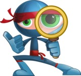 Cool Ninja Cartoon Vector Character AKA Sachi the Flexible - Search