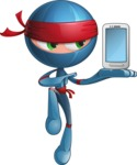 Cool Ninja Cartoon Vector Character AKA Sachi the Flexible - Smartphone 2