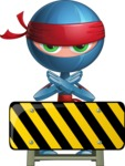 Cool Ninja Cartoon Vector Character AKA Sachi the Flexible - Under Construction 1