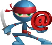 Cool Ninja Cartoon Vector Character AKA Sachi the Flexible - Web