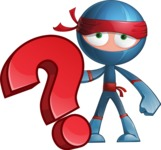 Cool Ninja Cartoon Vector Character AKA Sachi the Flexible - Question