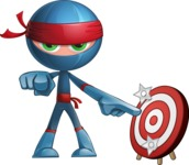 Cool Ninja Cartoon Vector Character AKA Sachi the Flexible - Target