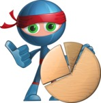 Cool Ninja Cartoon Vector Character AKA Sachi the Flexible - Chart