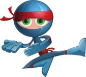 Cool Ninja Cartoon Vector Character AKA Sachi the Flexible - Showcase 2
