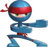 Cool Ninja Cartoon Vector Character AKA Sachi the Flexible - Show 1