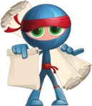 Cool Ninja Cartoon Vector Character AKA Sachi the Flexible - Sale 2