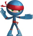 Cool Ninja Cartoon Vector Character AKA Sachi the Flexible - Show 2