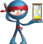 Cool Ninja Cartoon Vector Character AKA Sachi the Flexible - Time is Up