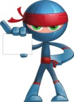 Cool Ninja Cartoon Vector Character AKA Sachi the Flexible - Sign 1