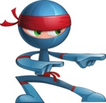 Cool Ninja Cartoon Vector Character AKA Sachi the Flexible - Point 1