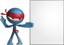 Cool Ninja Cartoon Vector Character AKA Sachi the Flexible - Presentation 1
