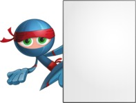 Cool Ninja Cartoon Vector Character AKA Sachi the Flexible - Presentation 3