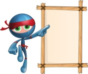Cool Ninja Cartoon Vector Character AKA Sachi the Flexible - Presentation 4