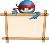 Cool Ninja Cartoon Vector Character AKA Sachi the Flexible - Presentation 5