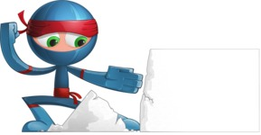 Cool Ninja Cartoon Vector Character AKA Sachi the Flexible - Presentation 6