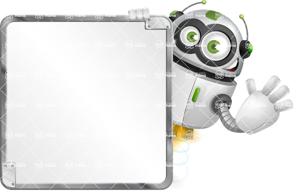 robot vector cartoon character - Presentation 2