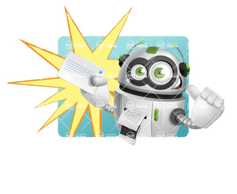 robot vector cartoon character - Shape1