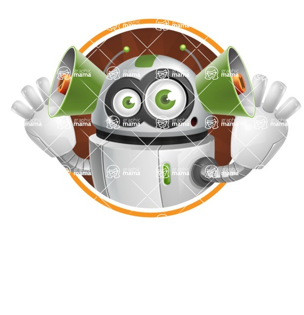 robot vector cartoon character - Shape2