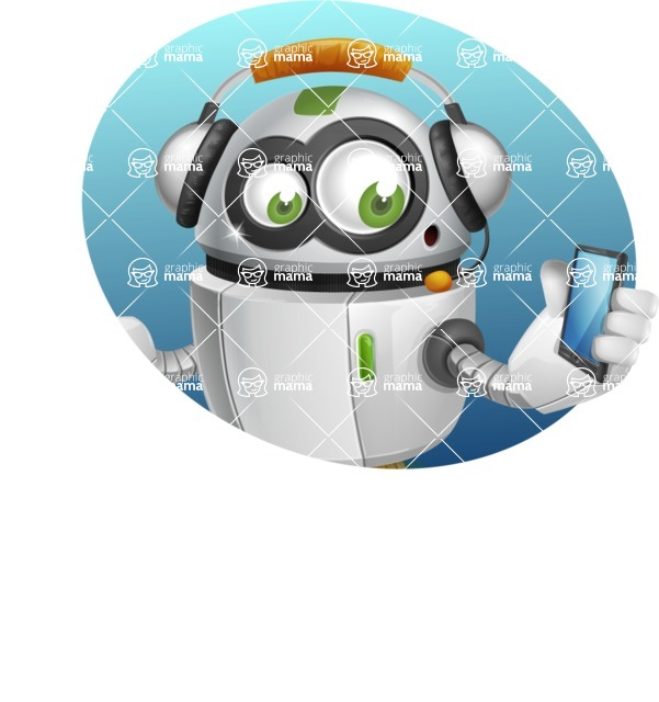 robot vector cartoon character - Shape4