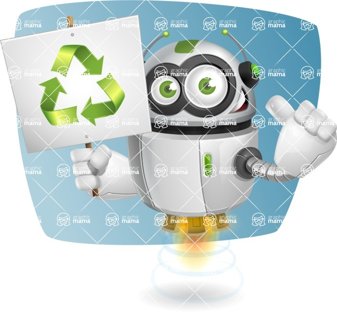 robot vector cartoon character - Shape5