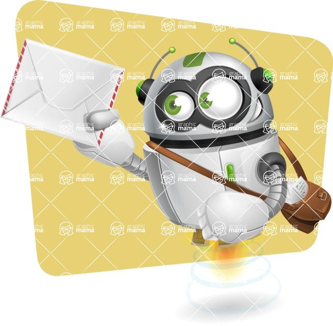 robot vector cartoon character - Shape11
