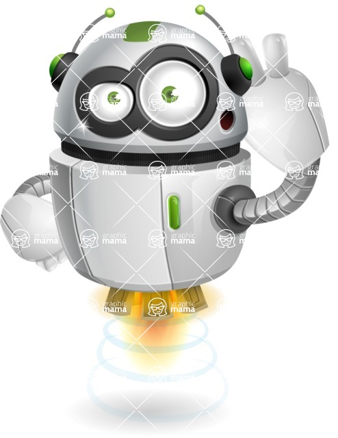 robot vector cartoon character - Oops