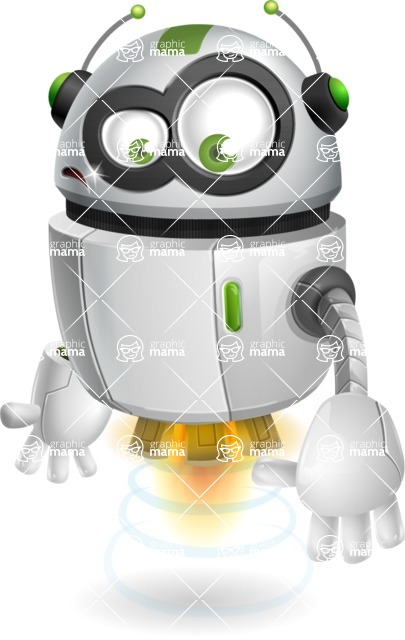 robot vector cartoon character - Sad