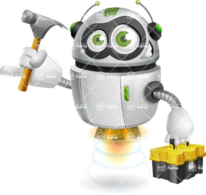 robot vector cartoon character - Workman 2