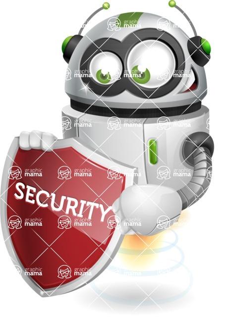 robot vector cartoon character - Security 2
