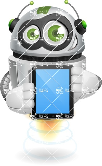 robot vector cartoon character design - iPad 1