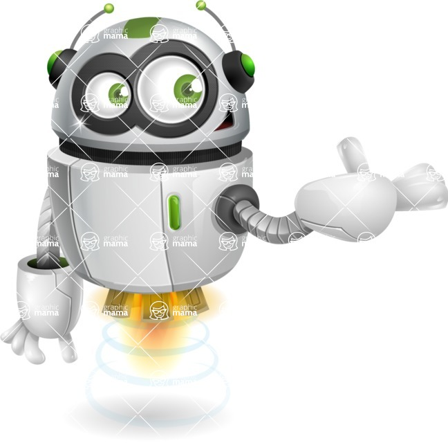 robot vector cartoon character - Showcase