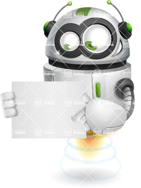 robot vector cartoon character design - Sign 4