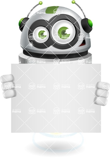robot vector cartoon character design - Sign 5