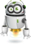 robot vector cartoon character - Normal