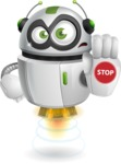 robot vector cartoon character design - Stop
