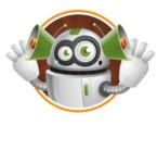 robot vector cartoon character - Shape2