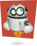 robot vector cartoon character design - Shape6