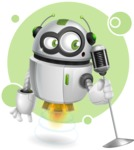 robot vector cartoon character - Shape8