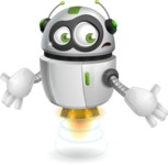 robot vector cartoon character - Lost